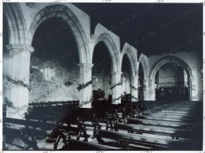 Photograph of the interior of St. Giles' Church [late 1920s] Durham Record no. DR 02901 © Durham County Records Office