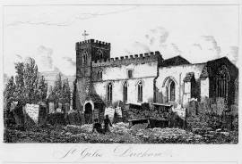 St. Giles Durham. Drawn & etched by W. Pearson, c. 1831